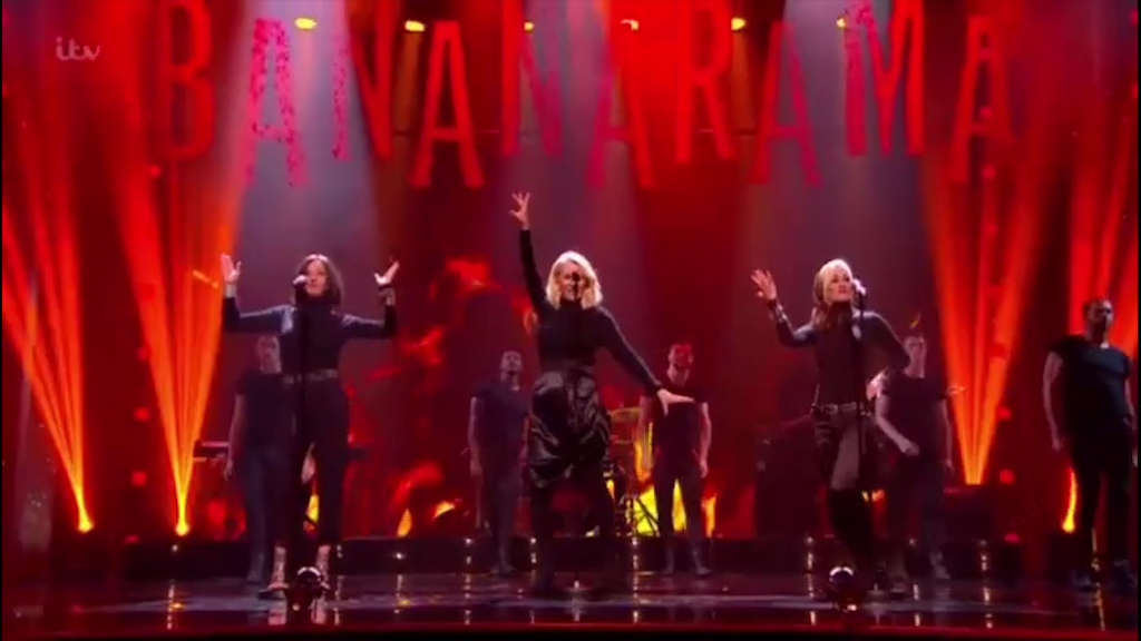 Bananarama perform 'Venus' at the London Palladium