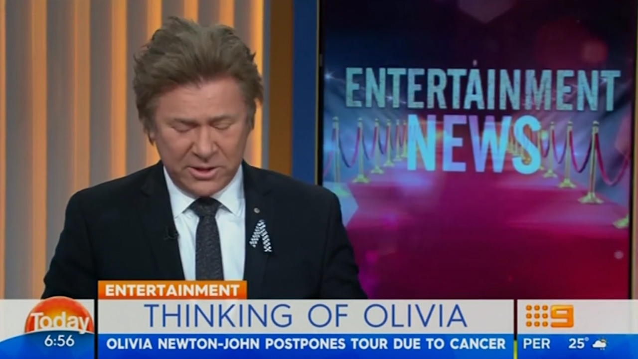Richard Wilkins breaks down over friend Olivia Newton-John's cancer