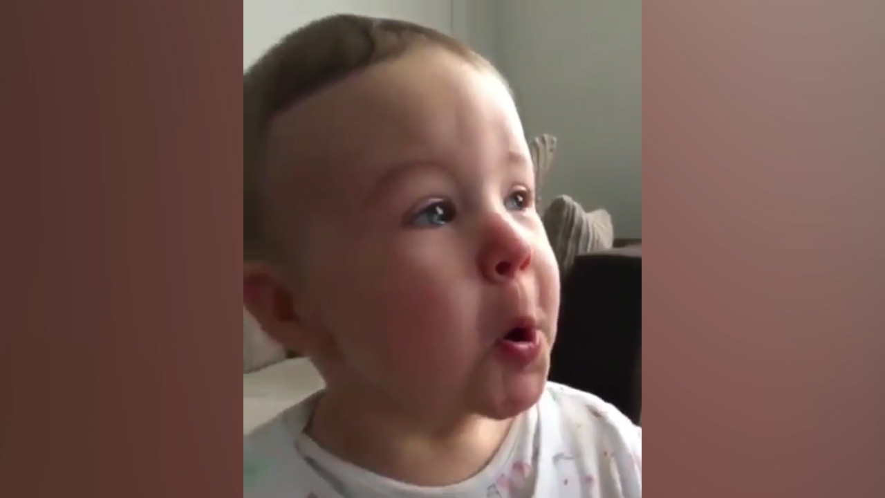 Baby overwhelmed with emotion