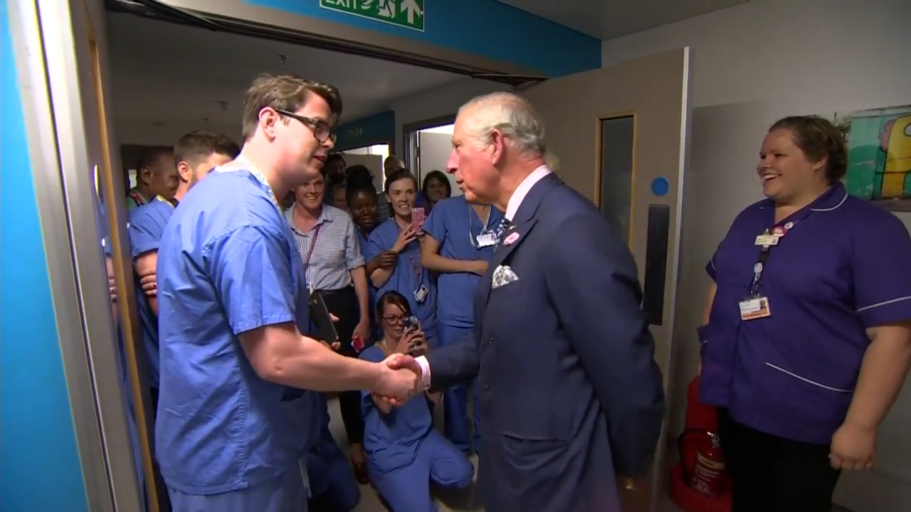 Charles and Camilla visit terror victims in London hospital