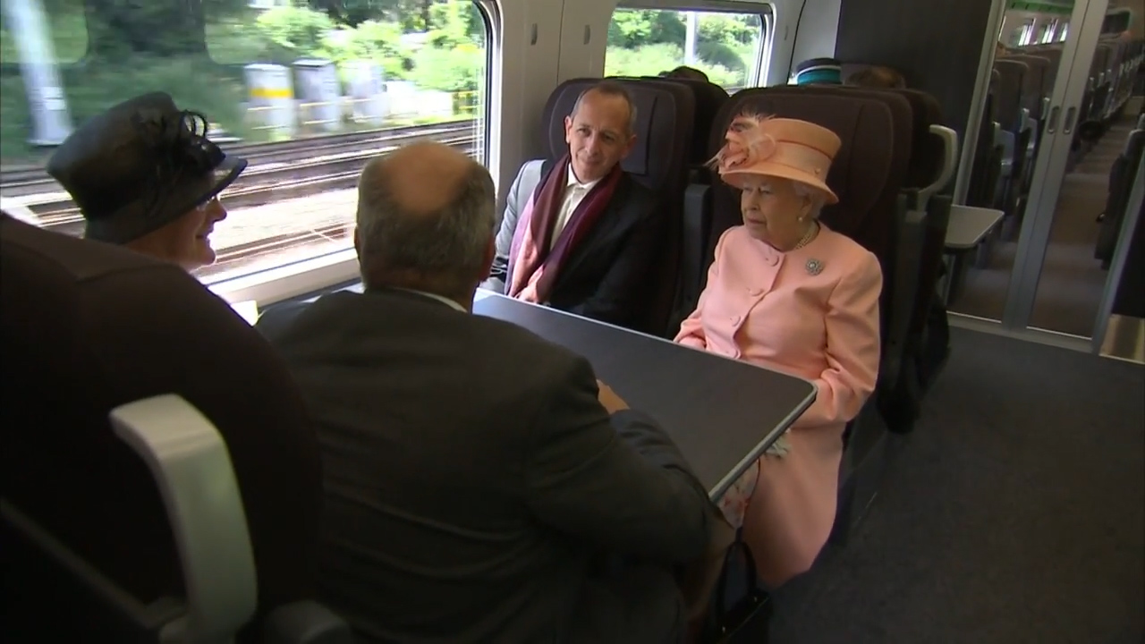 The Queen talks about her love of trains