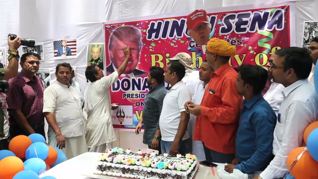 Trump birthday celebrations around the world.