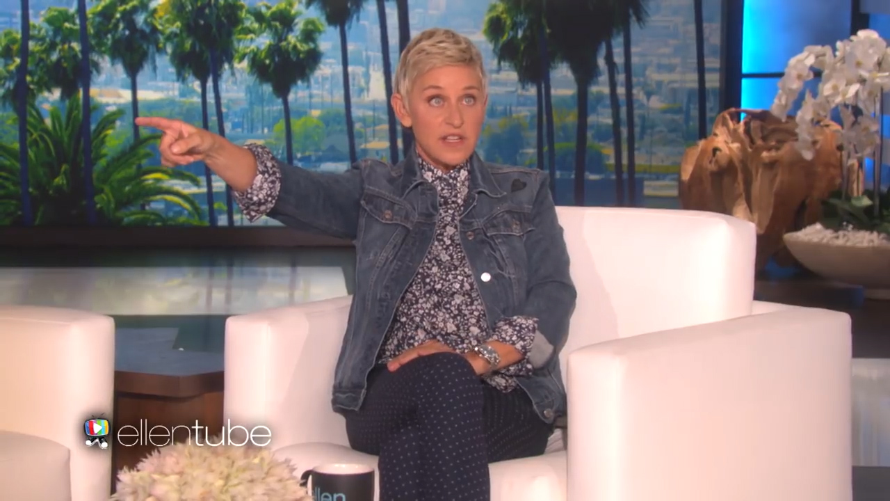 Ellen catches an audience member stealing