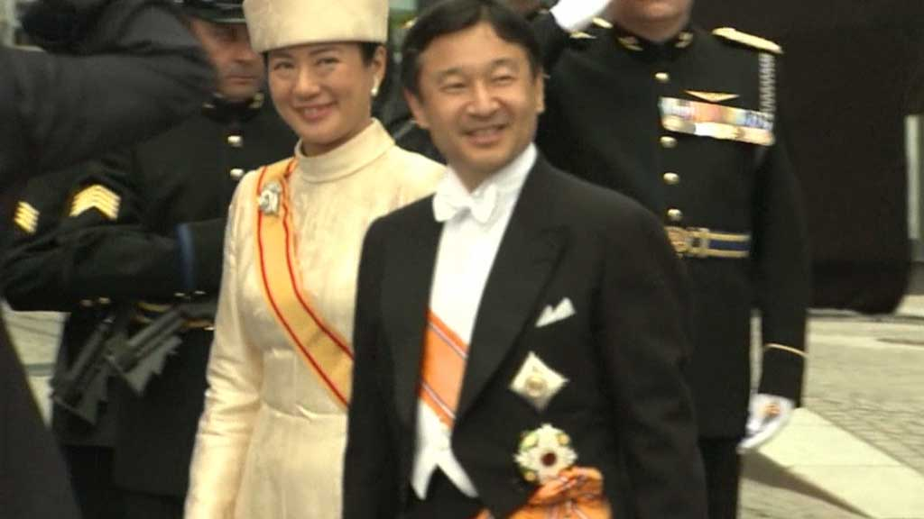 Japan's Crown Prince Naruhito and Crown Princess Masako in public