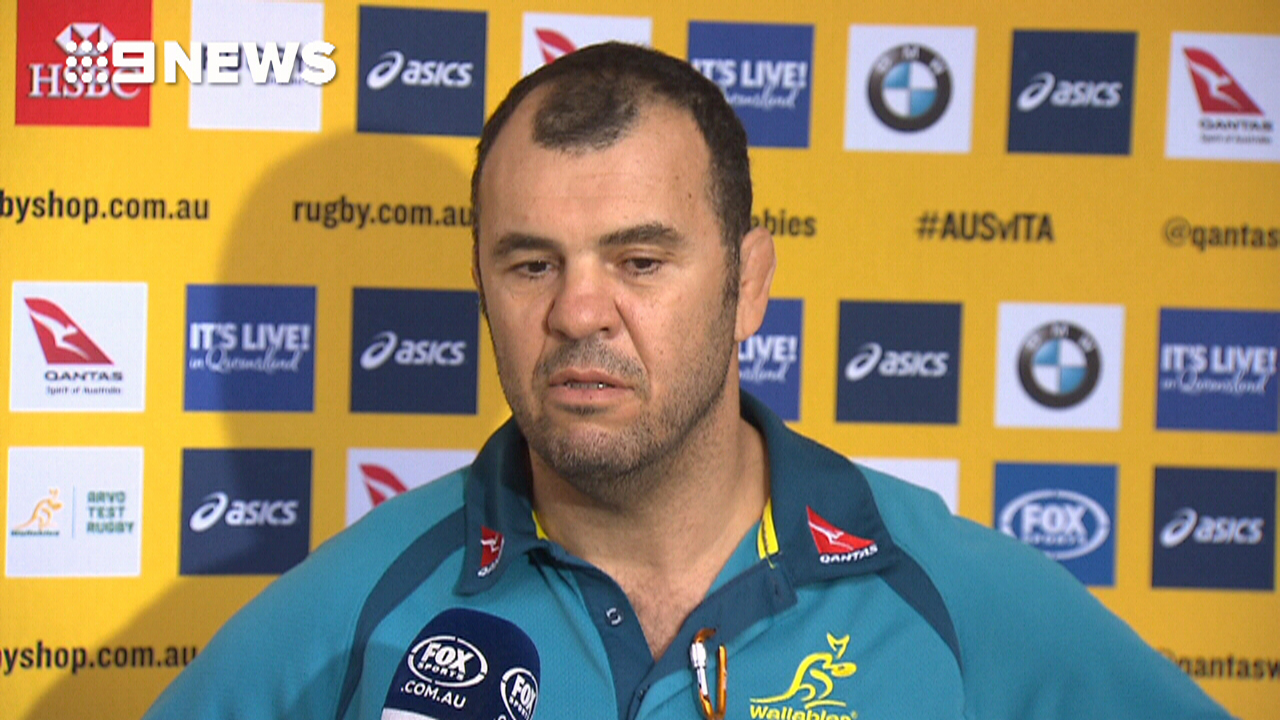 Cheika calls viral Wallabies fan after scathing criticism