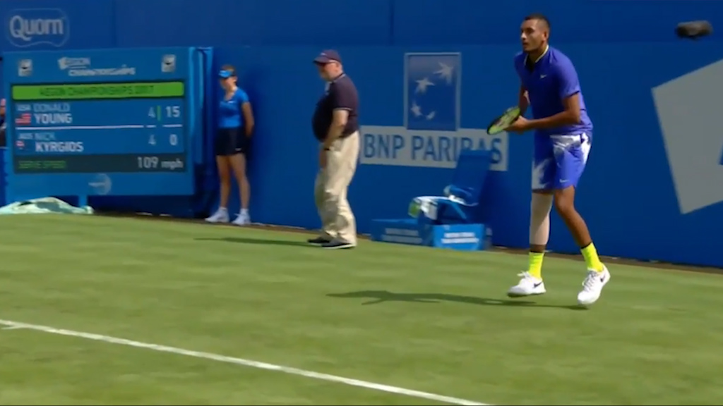 Kyrgios suffers injury setback before Wimbledon