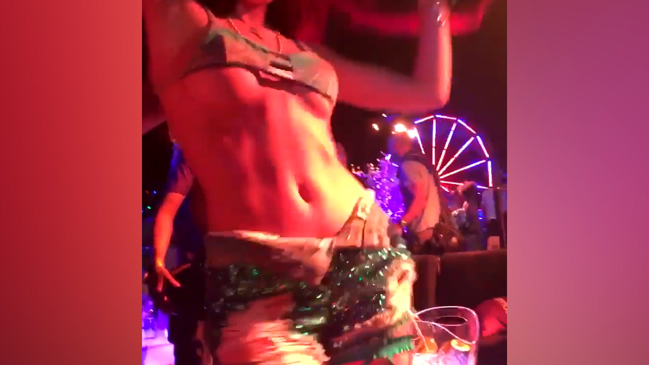 Bella Thorne dances in skimpy fair outfit