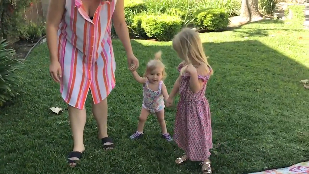 Toddler with Alzheimer's learns to walk