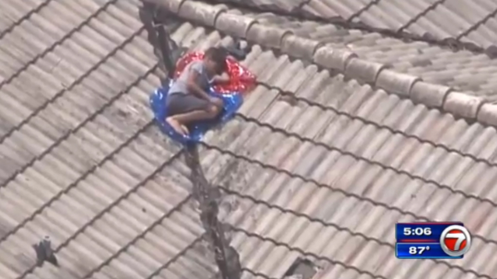 Missing boy found hiding on family's roof