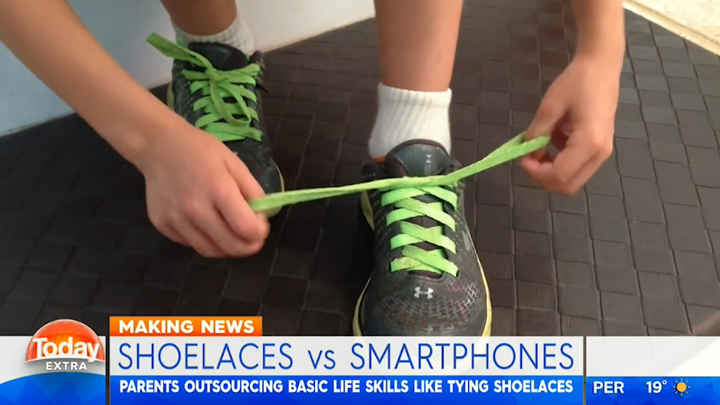 Toddlers are better at smart phones than shoe laces