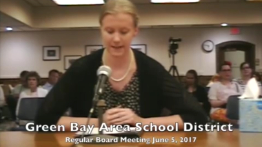 Teacher tearfully resigns