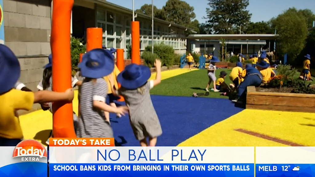 School bans students from bringing balls to school