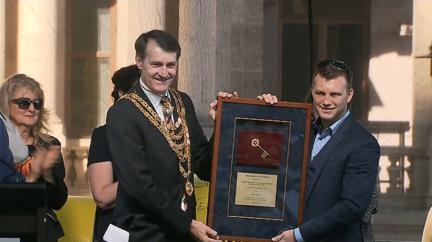 Jeff Horn honoured with a ticker tape parade