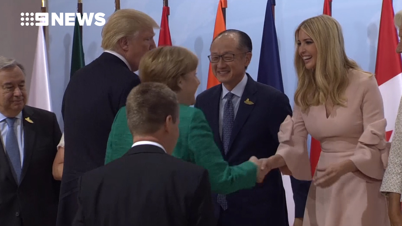 9RAW: Ivanka Trump sits at G20 world leader table