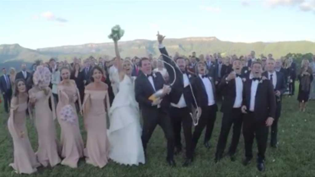Sylvia Jeffreys and Peter Stefanovic wedding