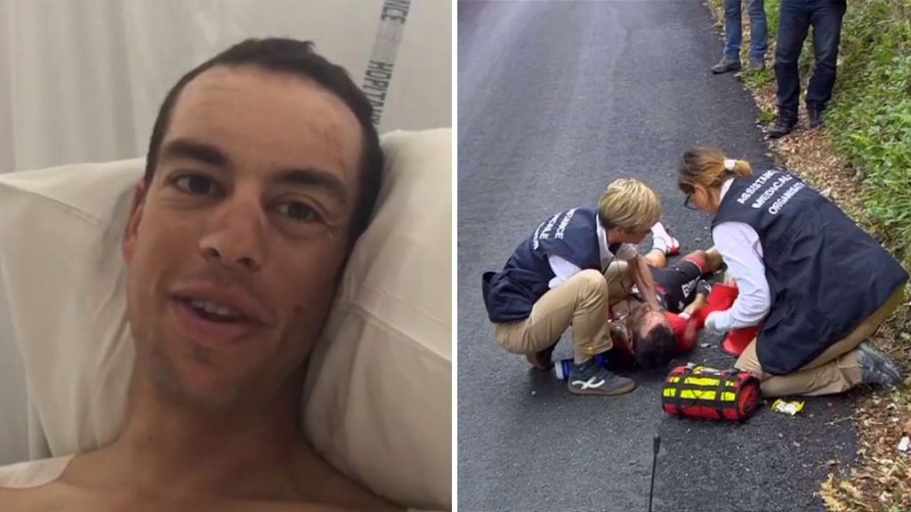 9RAW: Richie Porte keen to get back on bike after Tour de France crash