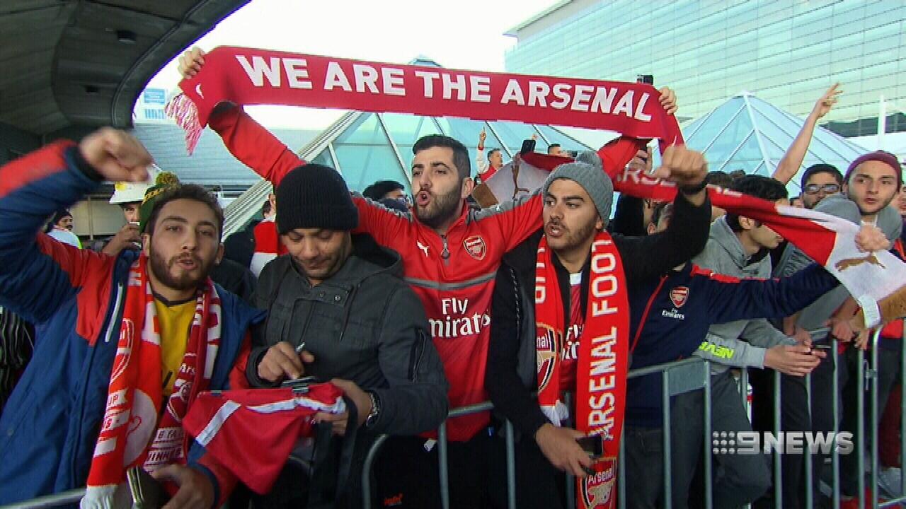 Arsenal arrive down under