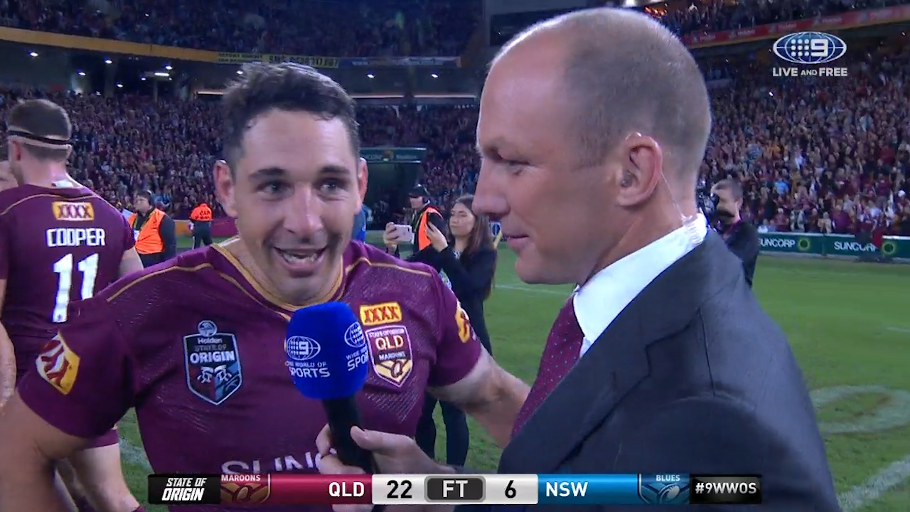 Billy Slater enjoys Origin win