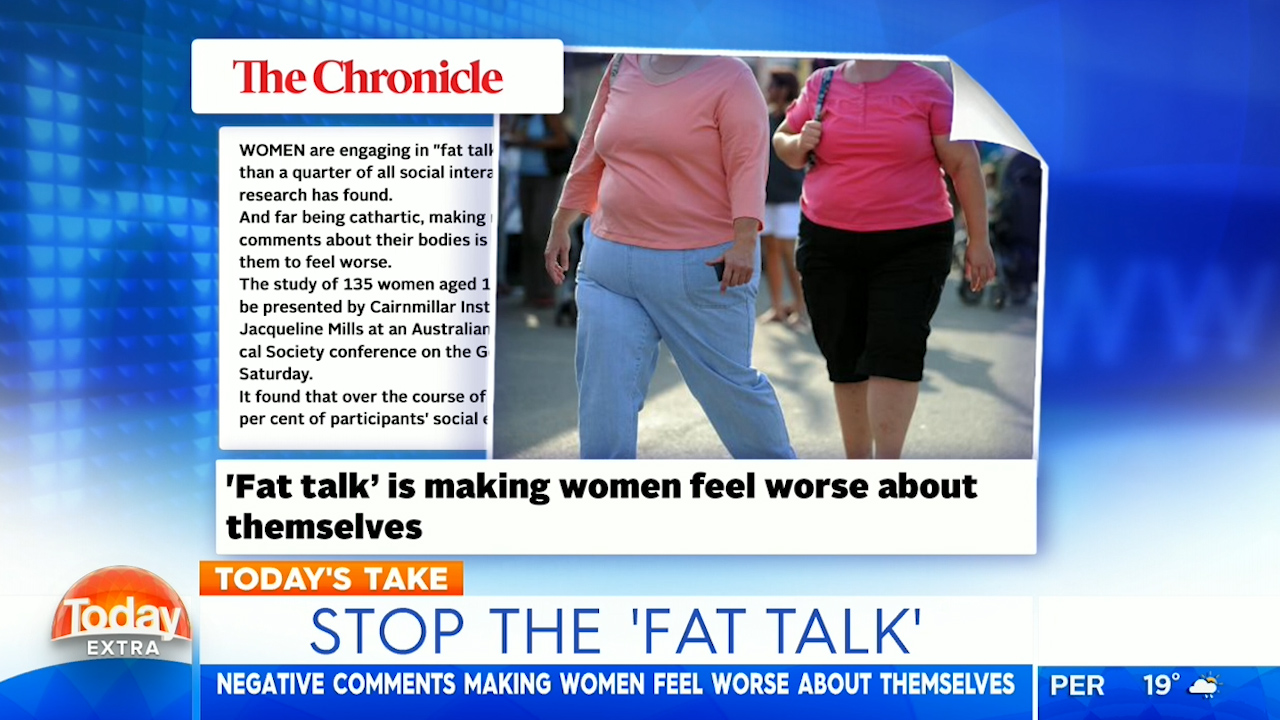 Stop the 'fat talk', psychologist says