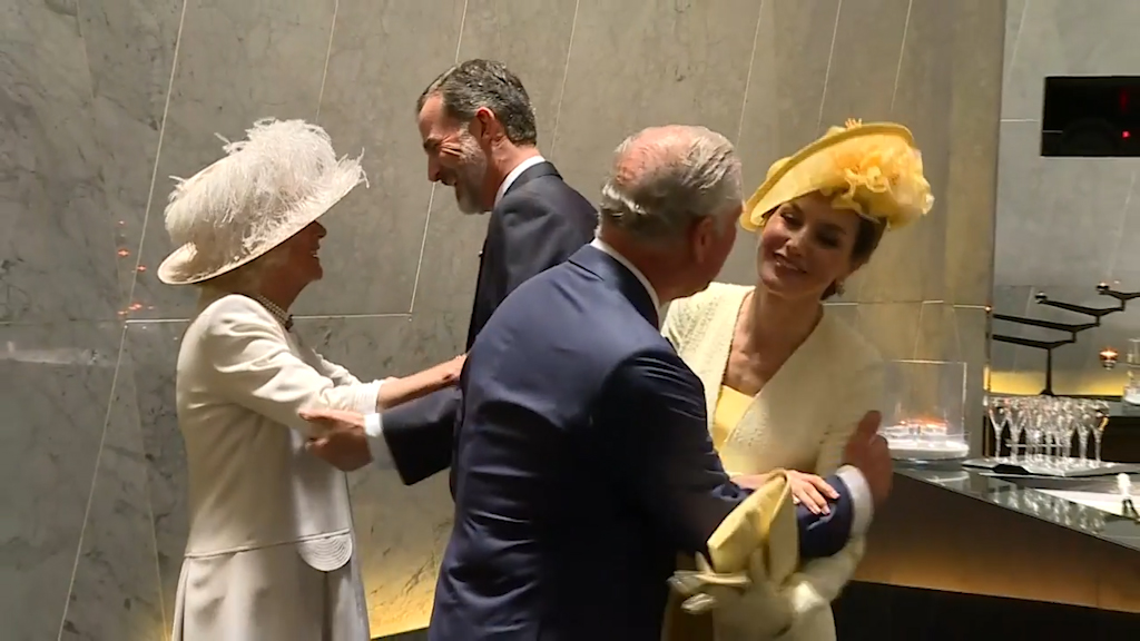 The Duchess of Cambridge attends the Royal Banquet held in honour for the Spanish King and Queen