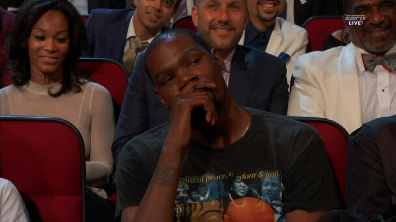 Durant no fan of ESPY's joke