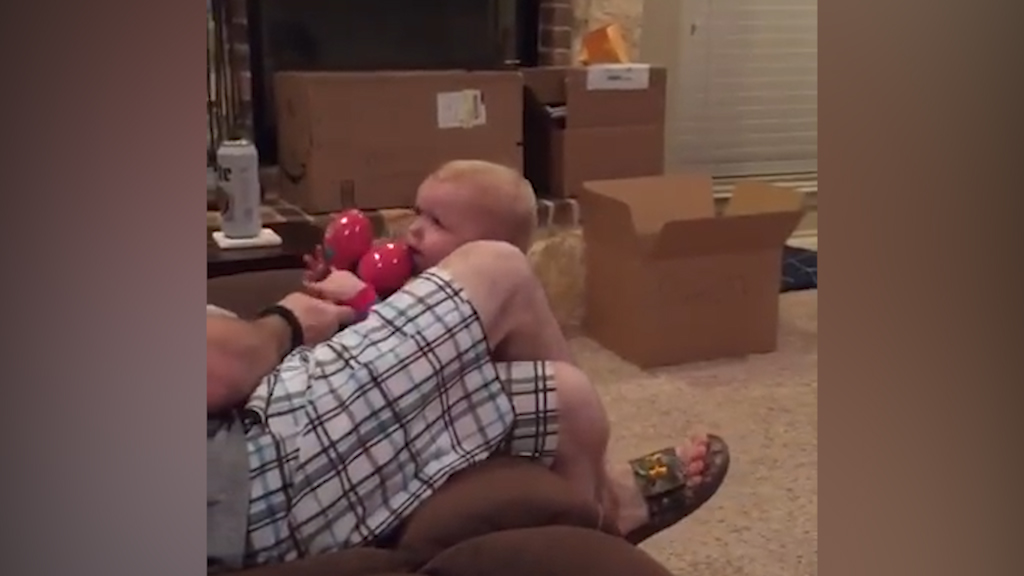 This tiny tot didn't get the sharing is caring memo
