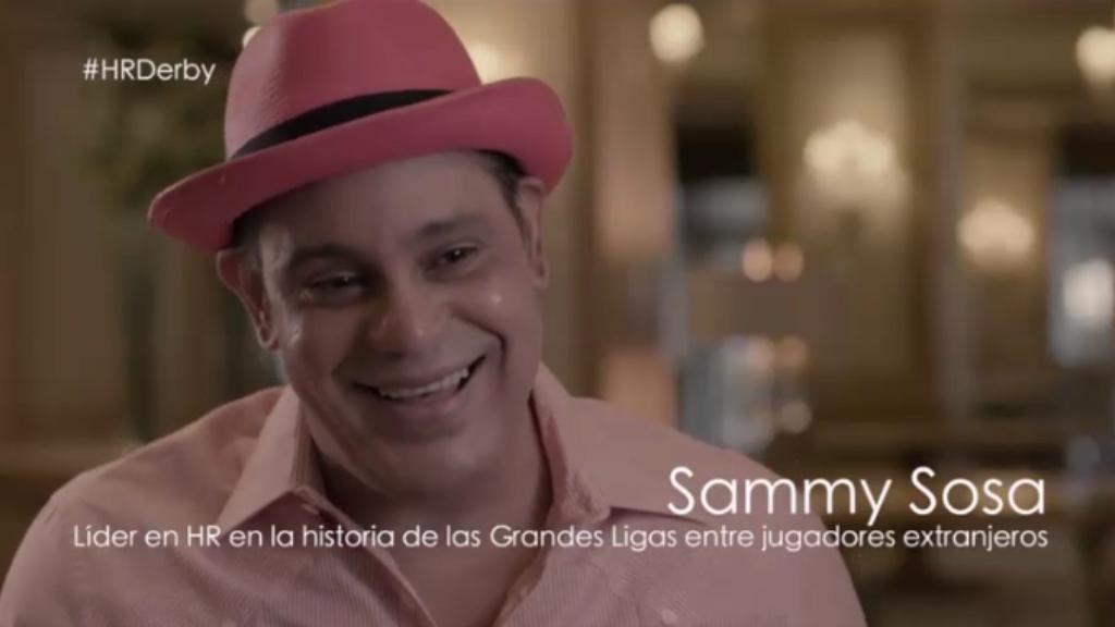 Sammy Sosa has noticeably lighter skin in this July 2017 ESPN video