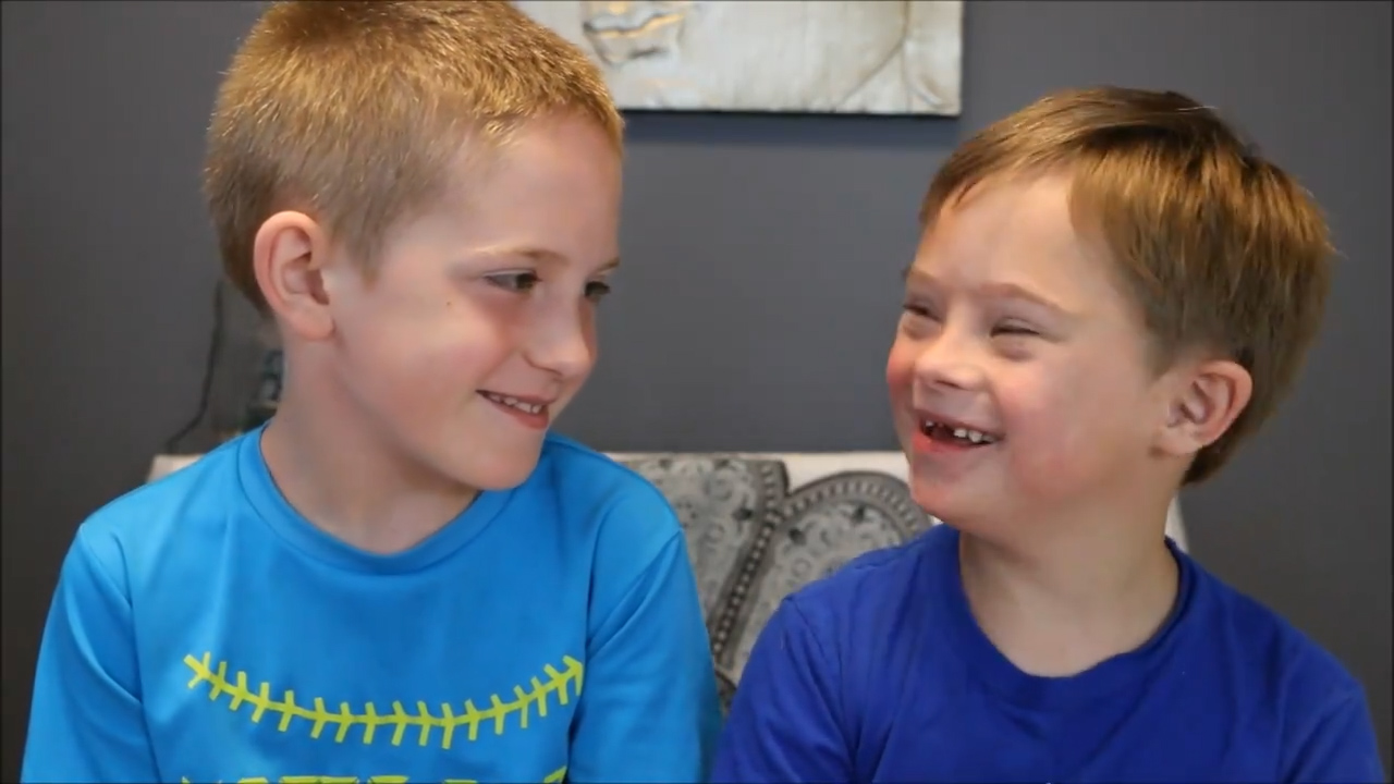 Boy explains why he loves his brother with down syndrome