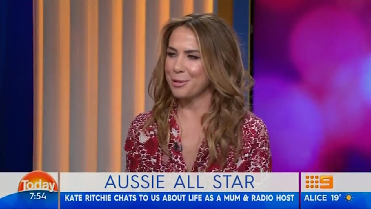 Kate Ritchie left red faced by Karl Stefanovic