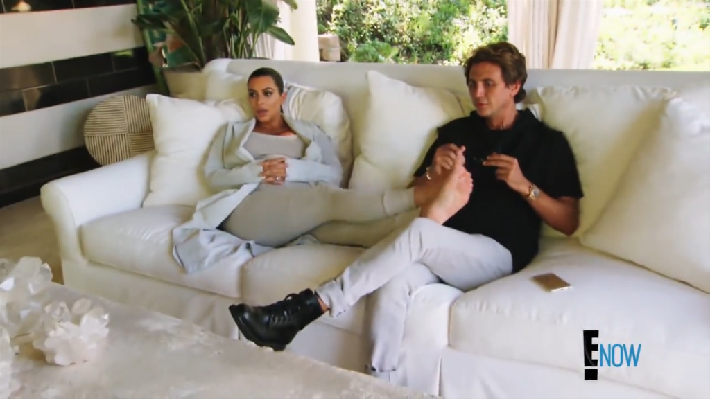 Kris Jenner's white couch
