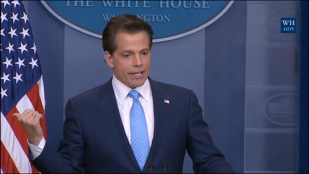 New White House communications director banters with the press