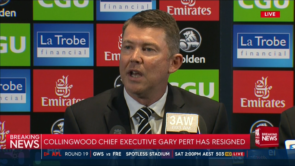 Pert steps down as Collingwood CEO