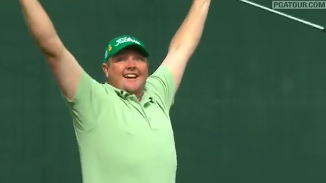 Jarrod Lyle makes hole in one