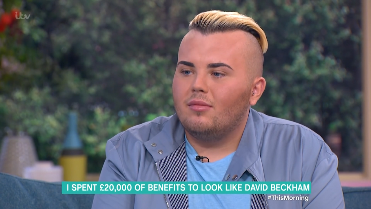 British man gets into crazy debt so he can look like David Beckham