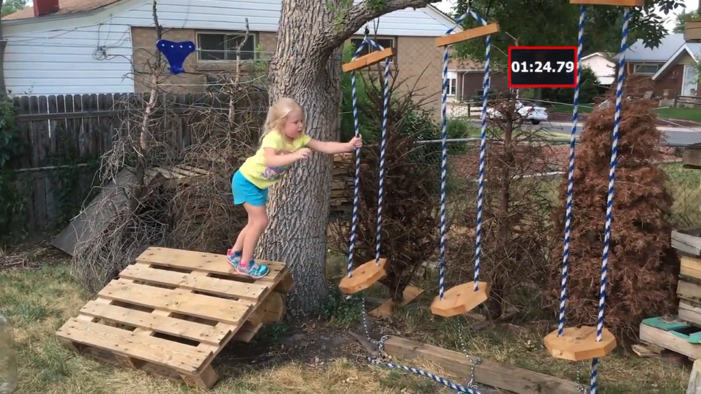 Kids are obsessed with Ninja Warrior moves