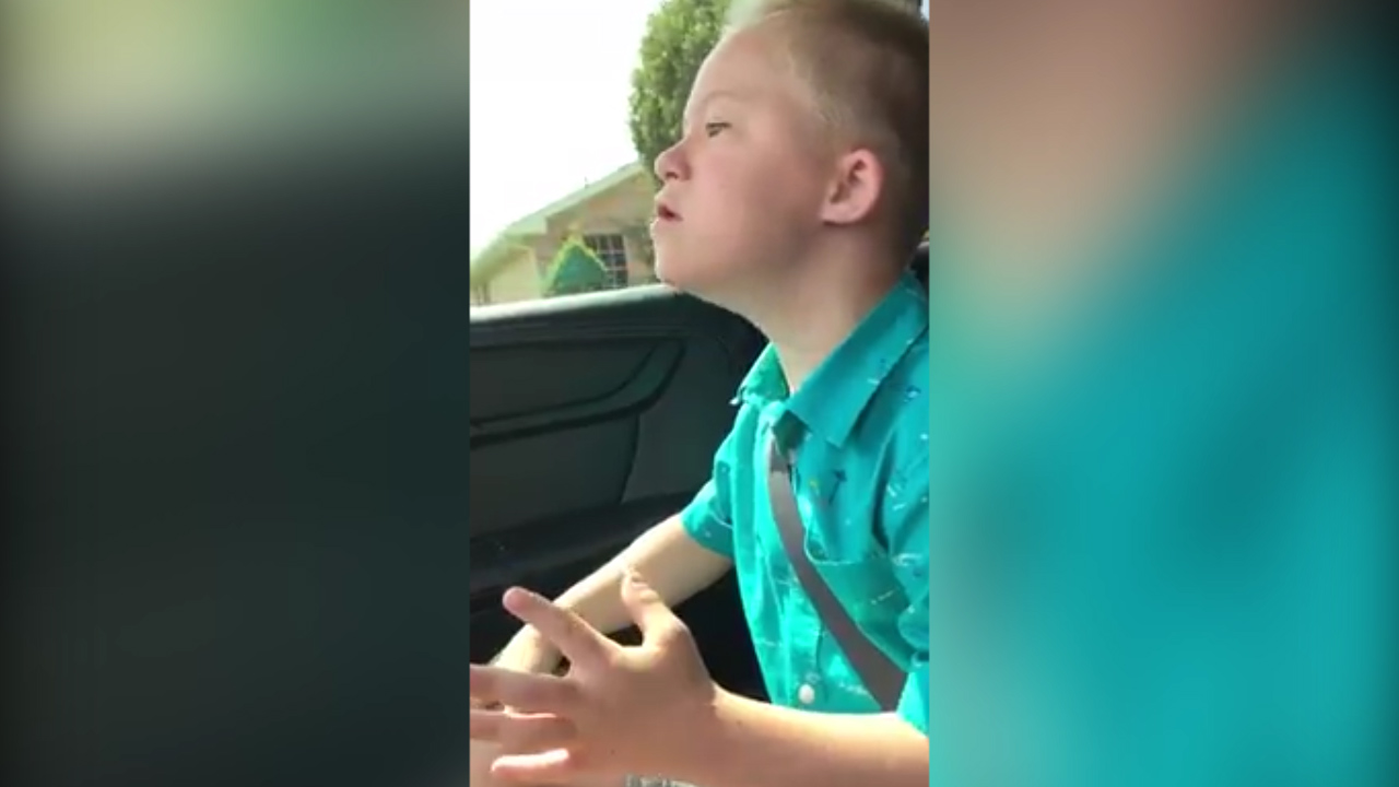 Boy singing Whitney Houston goes viral