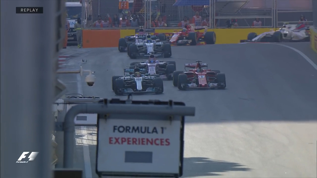Hamilton and Vettel clash during race
