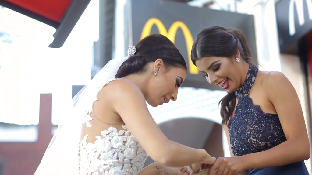Bride & Groom celebrate wedding day at McDonalds