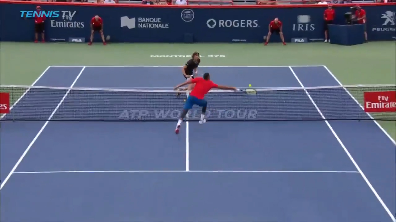 Kyrgios plays out point of the match