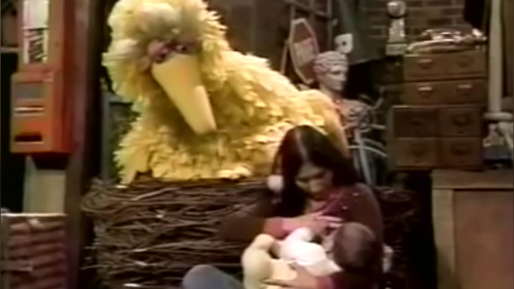Sesame Street explains breastfeeding