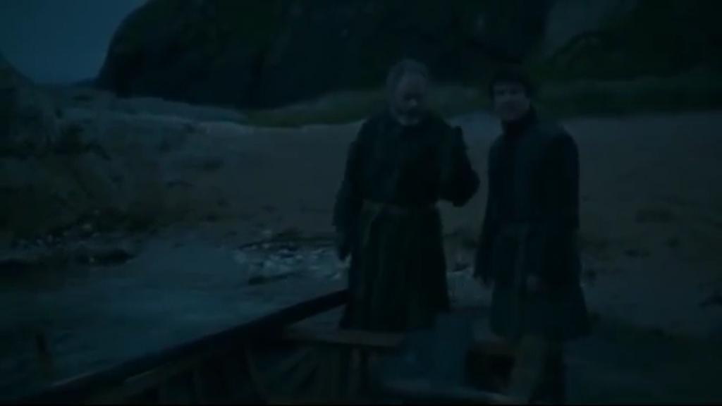 Ser Davos saves Gendry in GoT season three