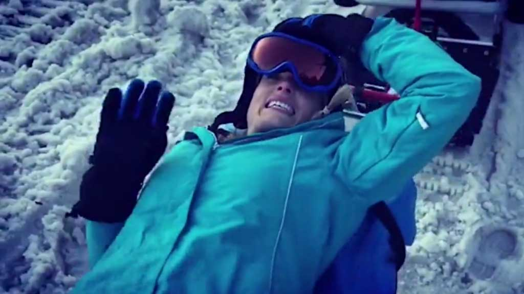 Erin Molan injures herself skiing