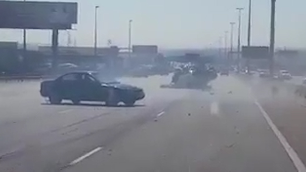 South African driver tries to flee scene after causing huge accident