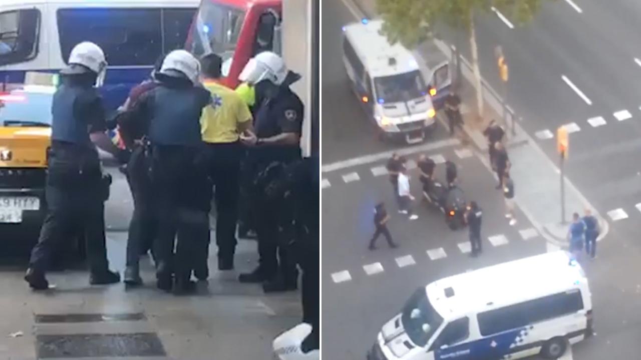 Apparent arrests of Barcelona suspects