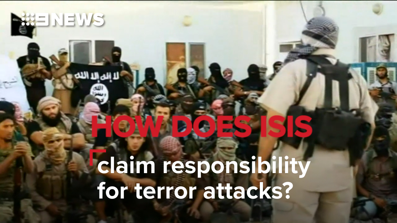 How does ISIS claim responsibility for terror attacks?