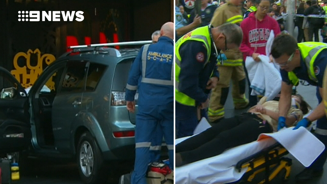 Medical episode causes driver crash into pedestrians at shopping strip