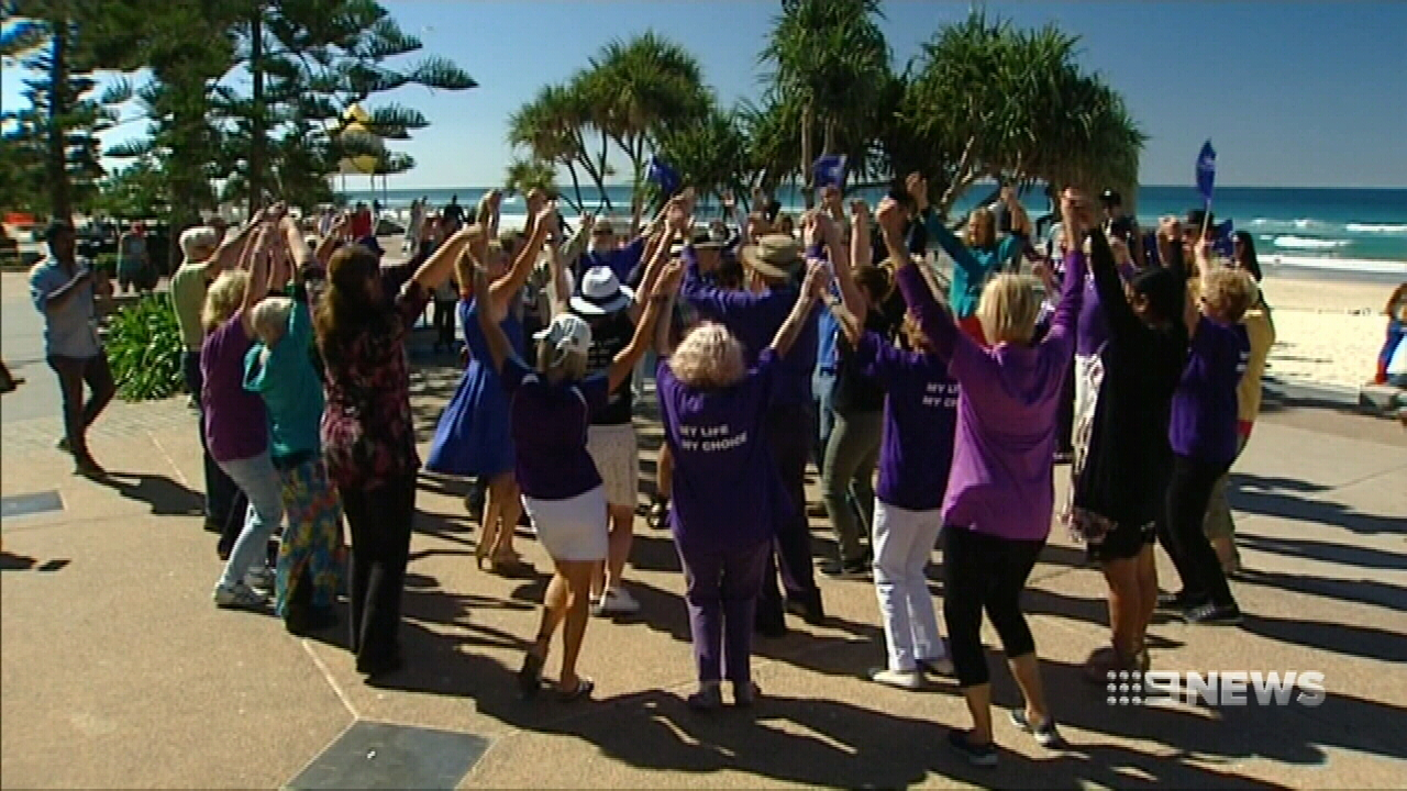 Flash mob celebrates birthday of euthanasia crusader