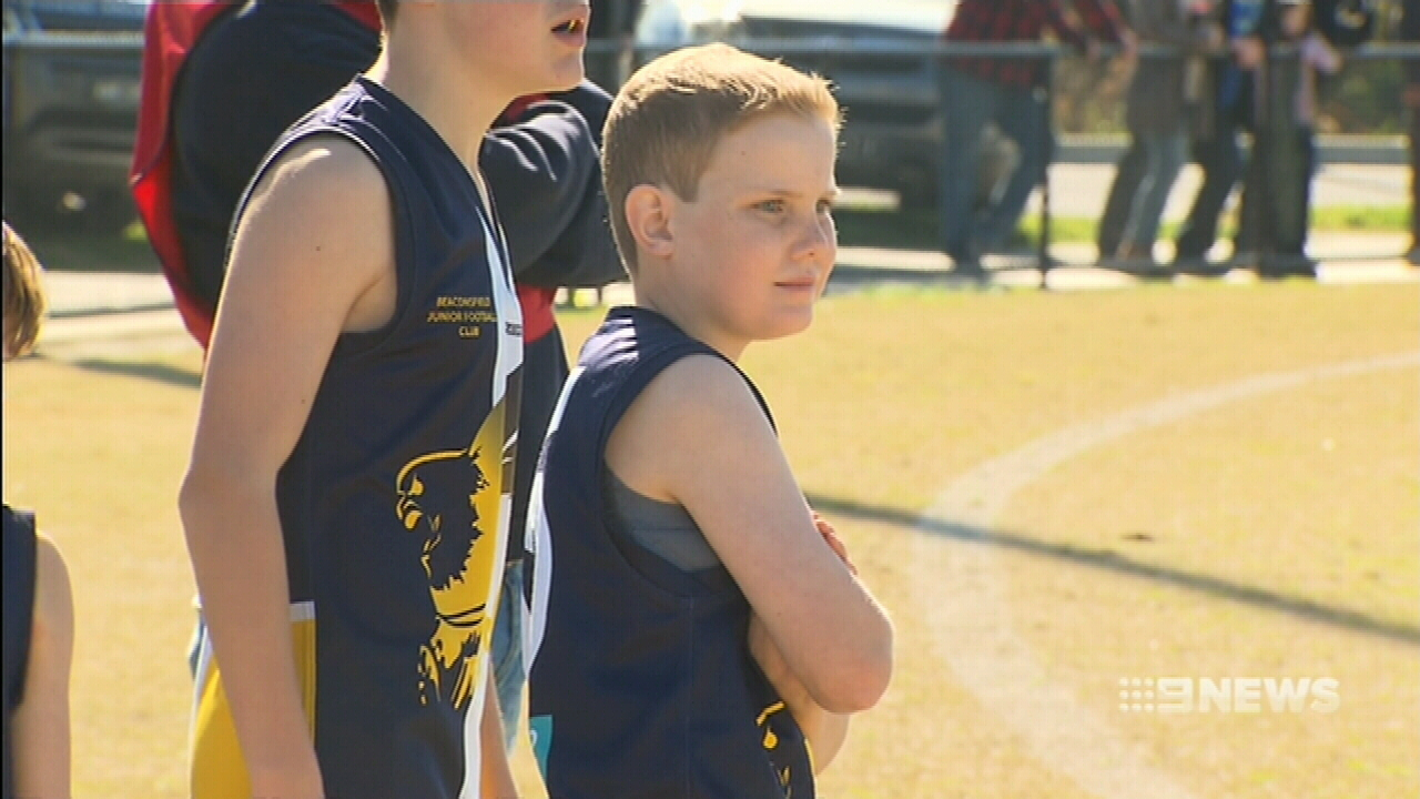 Eleven-year-old cancer patient lives out his footy dream