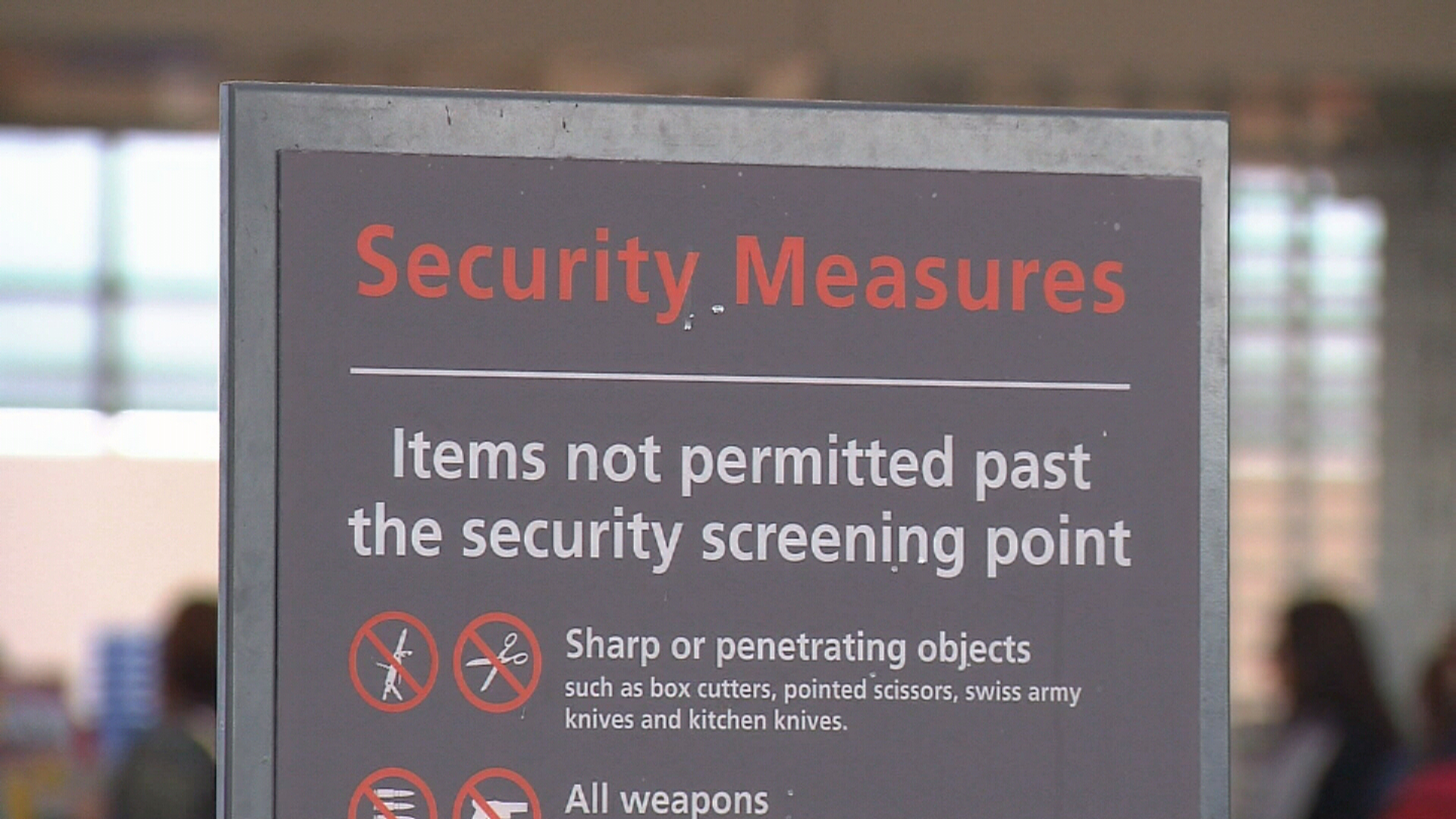 New airport security measures
