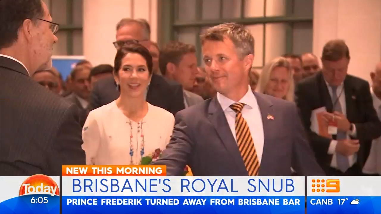 Brisbane's royal snub